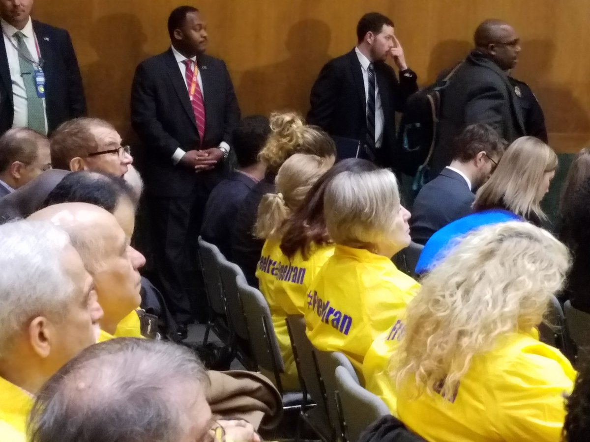 Iranian Americans attend at #Tillerson Confirmation, call for #FreeIran @RepEdRoyce @RepEliotEngel <br>http://pic.twitter.com/bEQsn5I2qC<br>http://pic.twitter.com/yaVDjszO2r