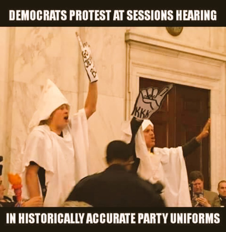 Minorities need to realize how truly racist the Democratic Party is. The entire party is based on racism and hate! #ConfirmationHearing <br>http://pic.twitter.com/NizmKaF3yd