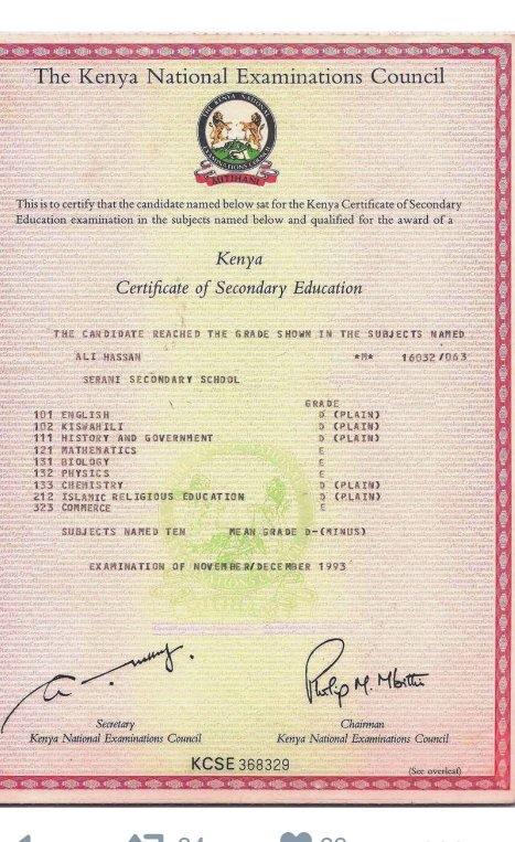 Kcse certificate sample images certificate design and template kcse 2016 results page 9 culture wazua forum could this cert then fit here for purpose yelopaper Gallery