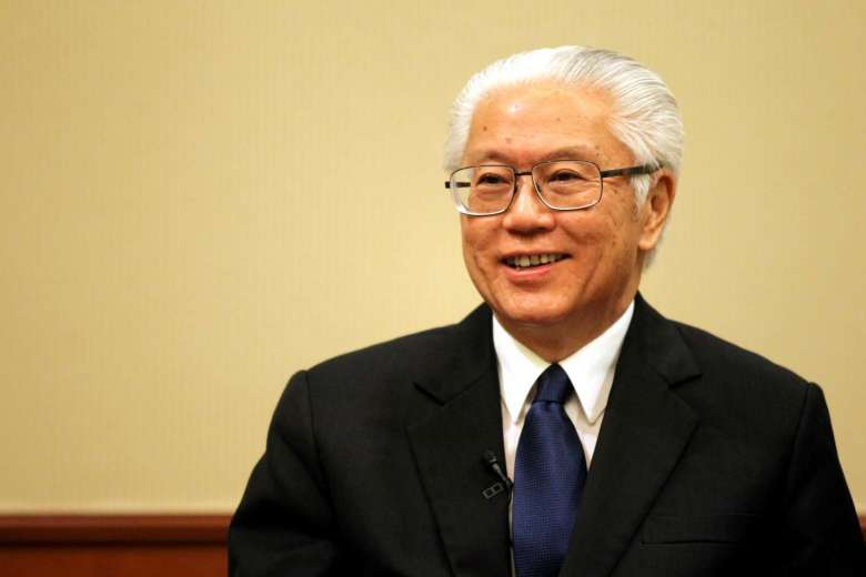 President of Singapore Tony Tan Keng Yam arrives in Laos