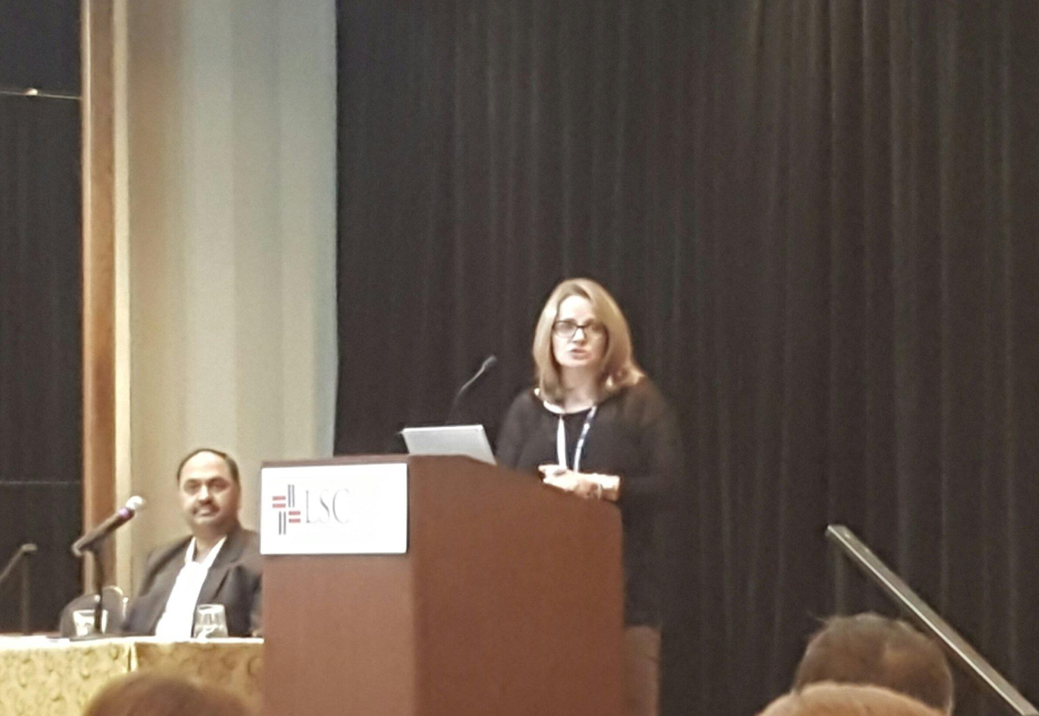 Over 60% of workers have troubles collaborating.  Technology is the answer. It can empower.  @Microsoft's Lucy Bassli #LSCTIG #tig2017 https://t.co/T0EsQQkXMA
