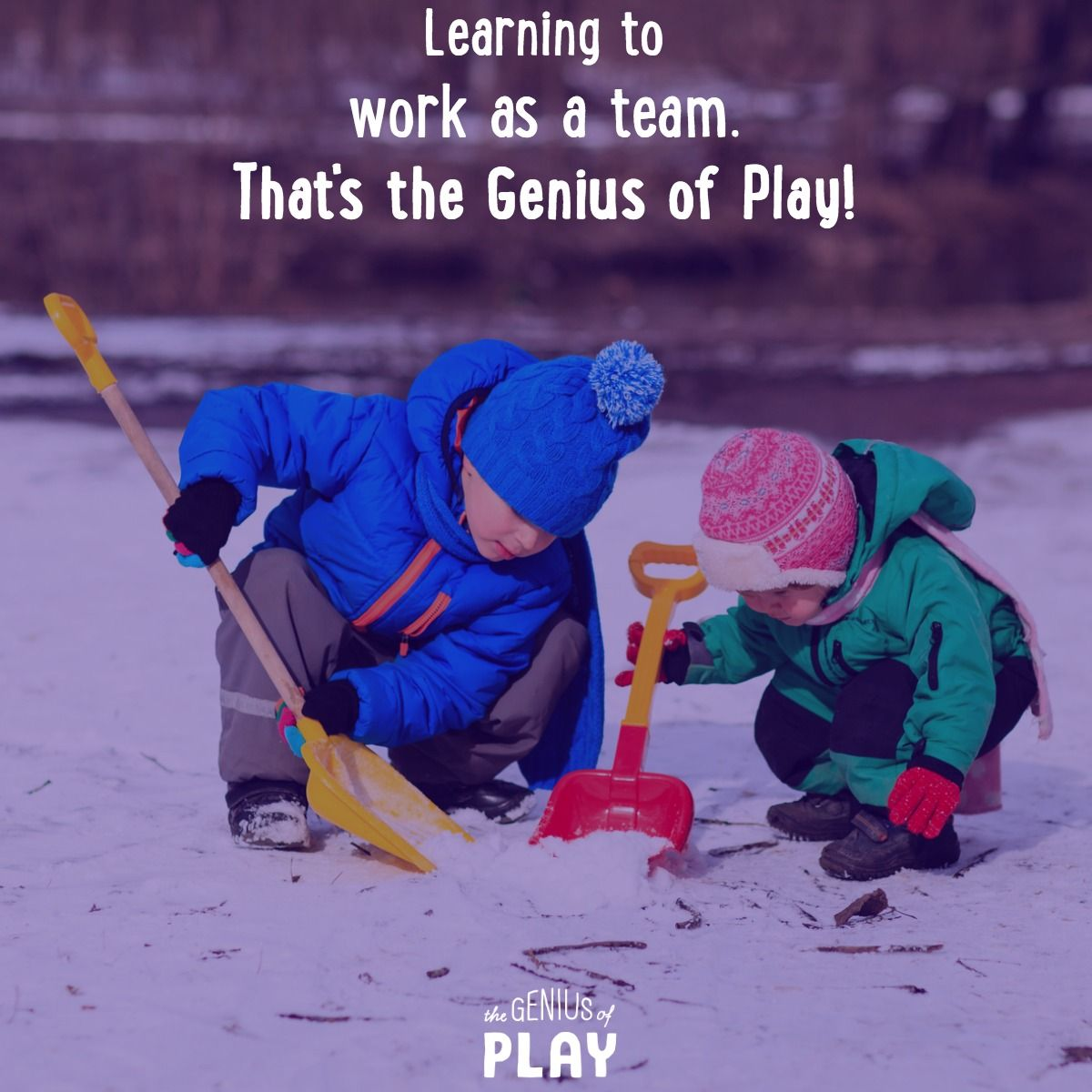 Simple playtime activities like digging in the snow together help build social skills that last a lifetime! https://t.co/0tZnoRUdEd