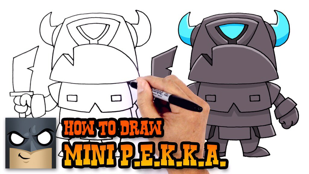 cartooning4kids on twitter learn how to draw mini p e k k a from clash royale. Black Bedroom Furniture Sets. Home Design Ideas