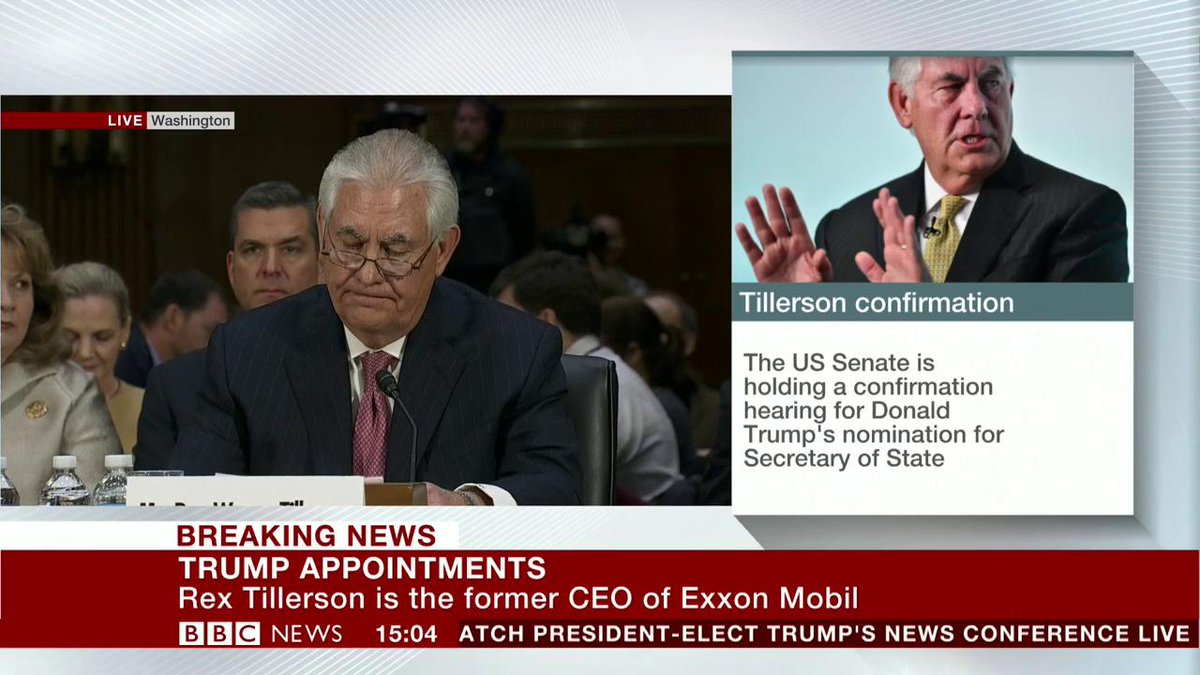 Russia must be held to account for its actions - Trump's nominee for Secretary of State, Rex Tillerson