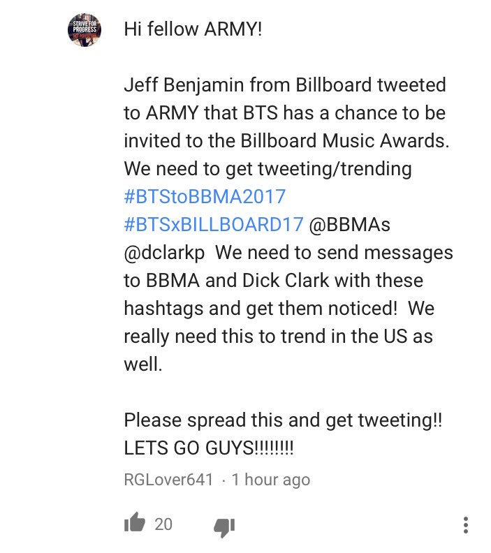 Guys I found this comment please tweet and retweet!  #BTSxBILLBOARD17  #BTSxBBMA17 #BTStoBBMA2017 <br>http://pic.twitter.com/X9sWvuaC8s
