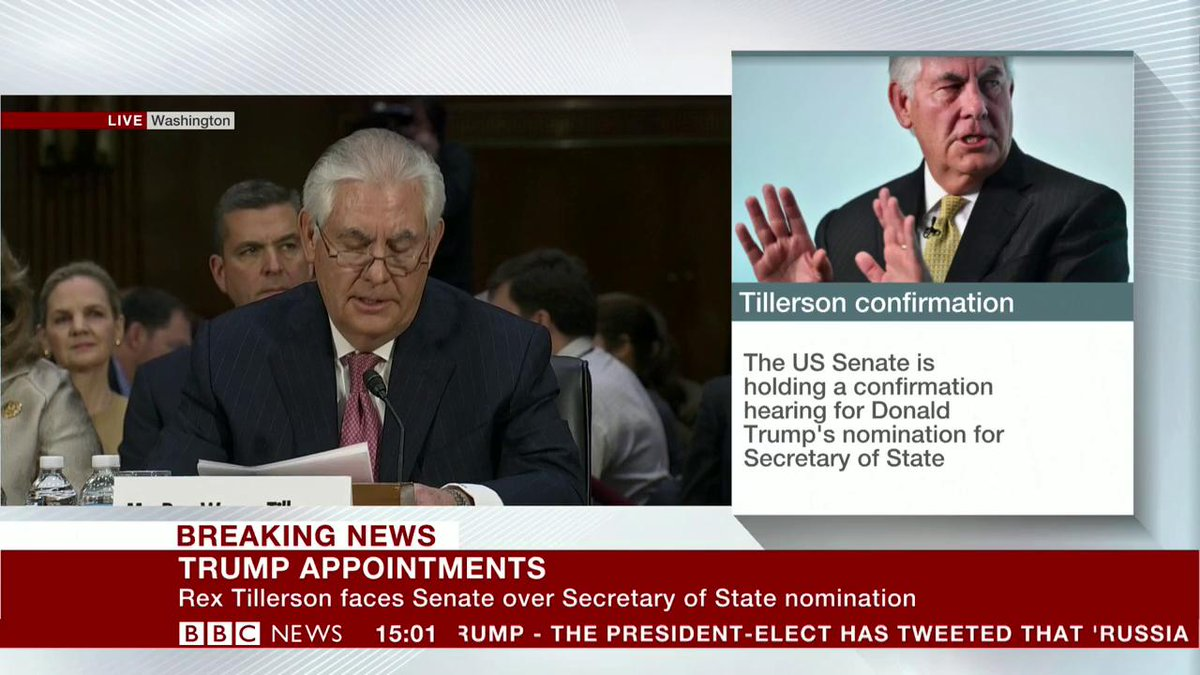 Defeating ISIS must be our foremost priority in the Middle East - US nominee for Secretary of State, Rex Tillerson