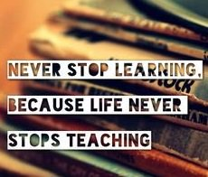 Today&#39;s #WednesdayWisdom: &quot;Never stop learning, because life never stops teaching.&quot; <br>http://pic.twitter.com/8iacHWMDjY