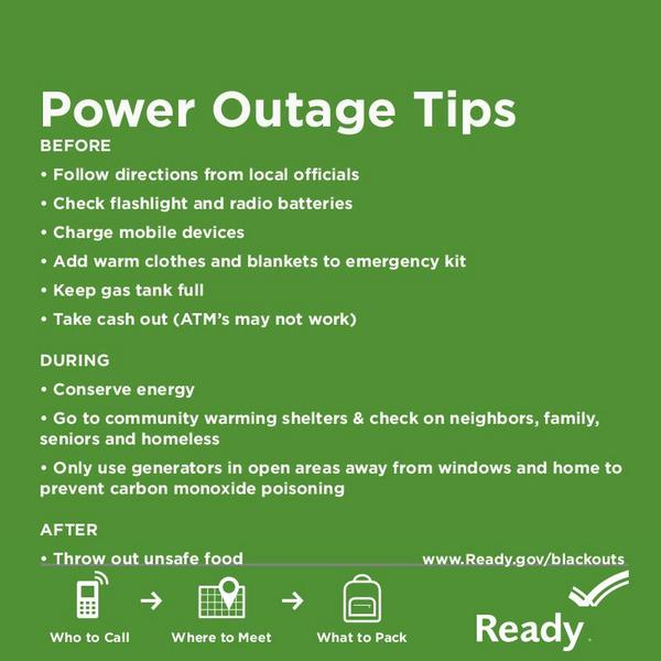 Potential ice storm to hit this weekend. Are you prepared for a power outage? #GetReady #WinterSafety https://t.co/uW3d5GCWrw