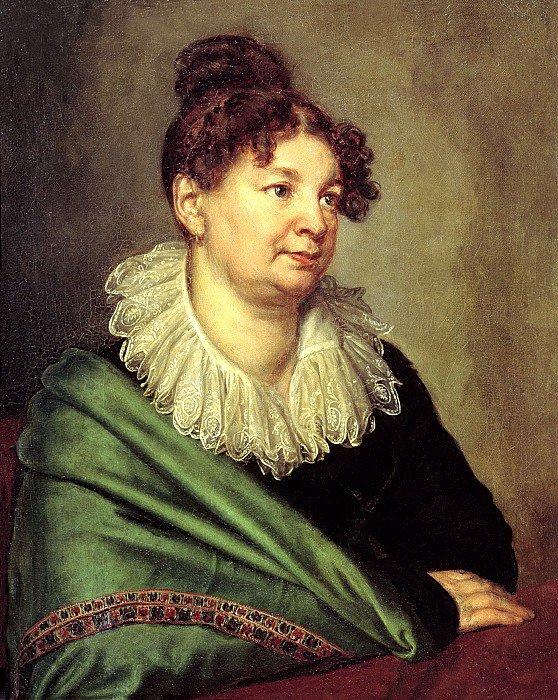 Александр Варнек - Портрет Екатерины Борисовны Ахвердовой (1820-е)