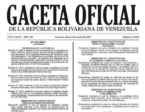 Oficializado el 50% de aumento en el sueldo mínimo  https://t.co/qO5uE...