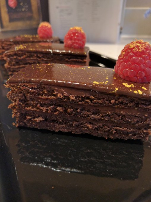 GBBO Crème de la Crème – recipe 10 – Raspberry and Rose Chocolate Slices