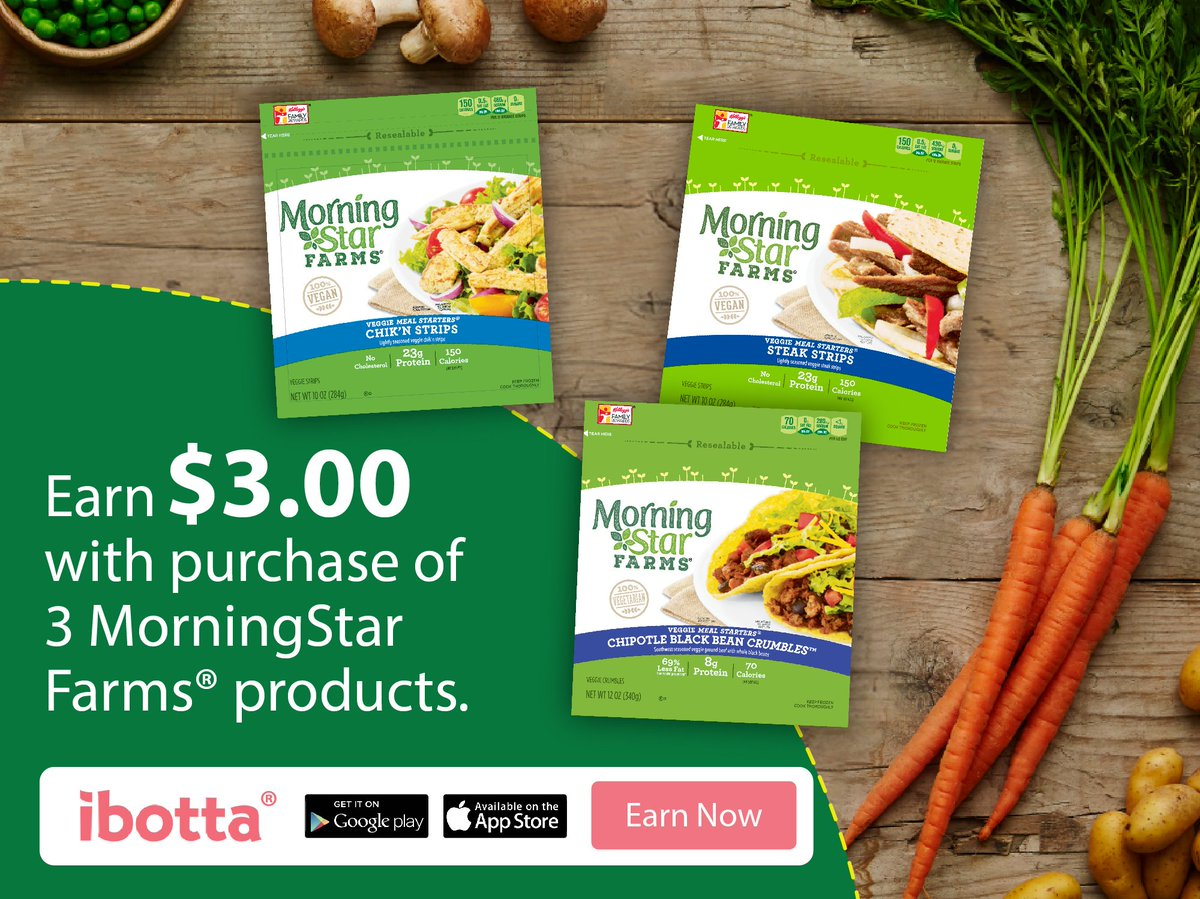 Earn $3 with this MorningStar Farms® products Ibotta Offer at Walmart! #DailyVegolutions #ad https://t.co/eFnqEkl546 https://t.co/Mjy7R8lyUY