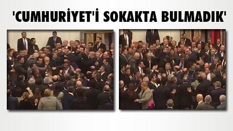 Meclis'te yaşanan kavganın görüntüsü https://t.co/PU3vt5VRAO #YereBats...