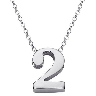 sterling silver number necklace charms