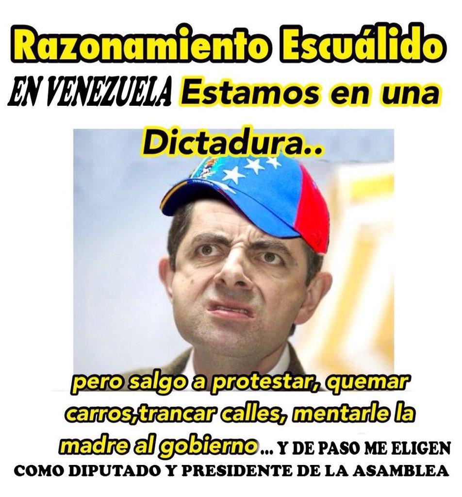 RAZONAMIENTO ESCUÁLIDO.. EN VENEZUELA HAY UNA DICTADURA  FREDDY GUEVAR...