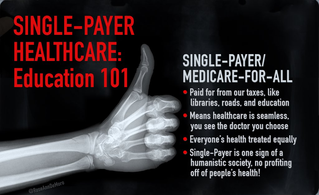 For-profit #healthcare systems kill - that&#39;s why other major countries have #SinglePayer. Americans need #Medicare4All! #WednesdayWisdom #1u <br>http://pic.twitter.com/SUQgDcqZLi