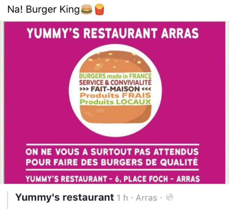 Énorme ! Notre com inspire les restaurants arrageois  #burgerking #Arras #compublique<br>http://pic.twitter.com/T4VjJ56gnl