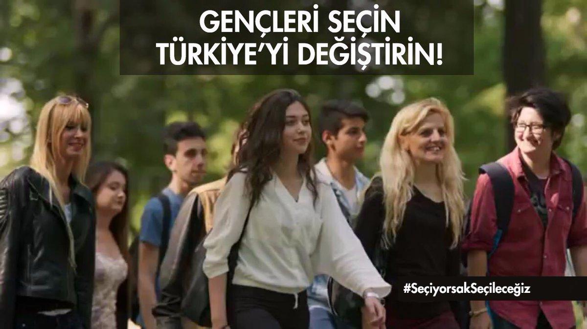 Gençleri seçin Türkiye'yi değiştirin!  #SeçiyorsakSeçileceğiz https://...