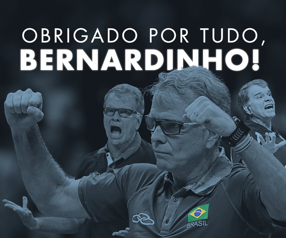 Bernardinho não será mais o técnico da seleção masculina de vôlei para...