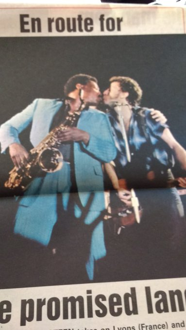 Happy birthday to big man clarence Clemons,(when the change was made uptown and the big man joined the band)