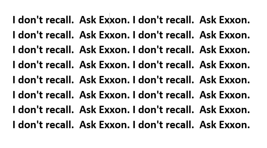 Summary of #Tillerson responses to Senate questions about his time as CEO of Exxon.  #tillersonhearing <br>http://pic.twitter.com/FuhATXBhka