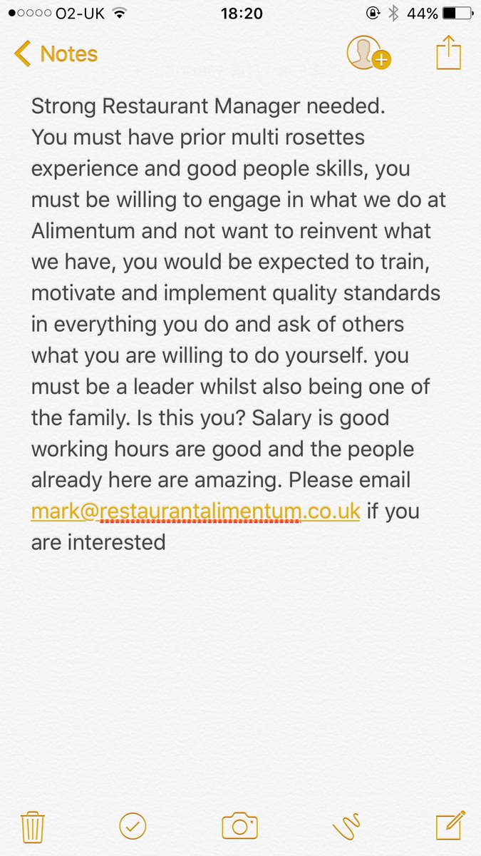 Just putting this out there please RT and get in touch if you want to be part of the Alimentum family