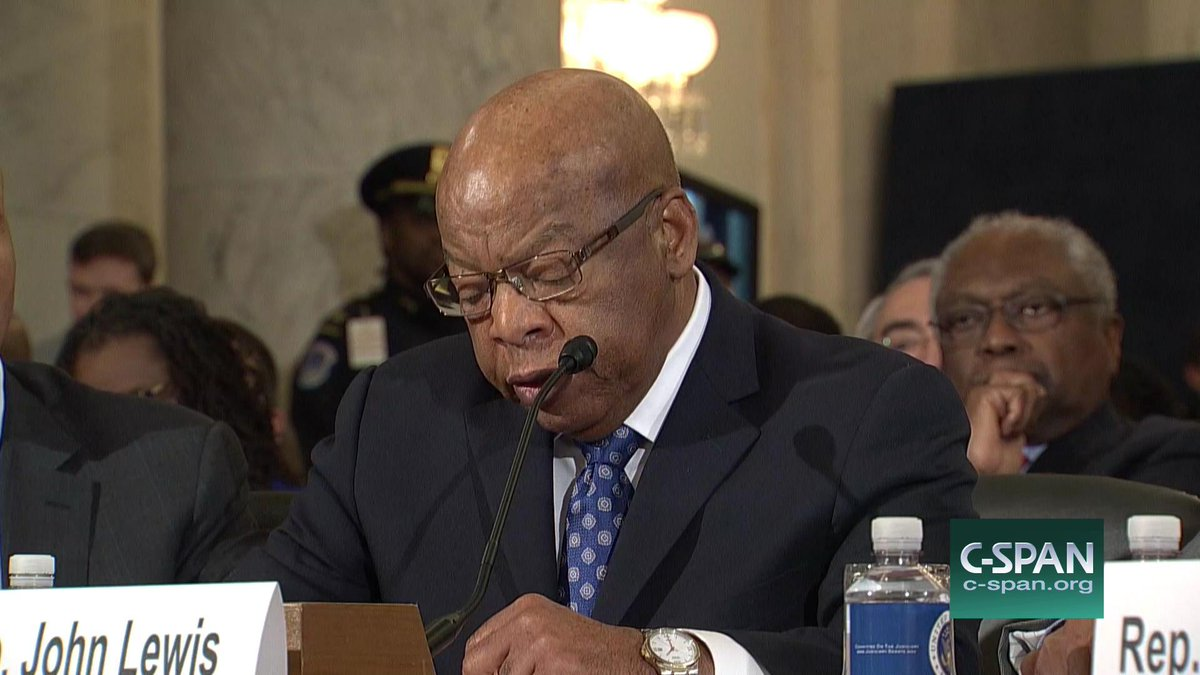 .@repjohnlewis testifies on Sen. #Sessions becoming Attorney General – LIVE online here:  http:// cs.pn/2ijwgP1  &nbsp;   #Sessionshearing<br>http://pic.twitter.com/cyA3giGQqh