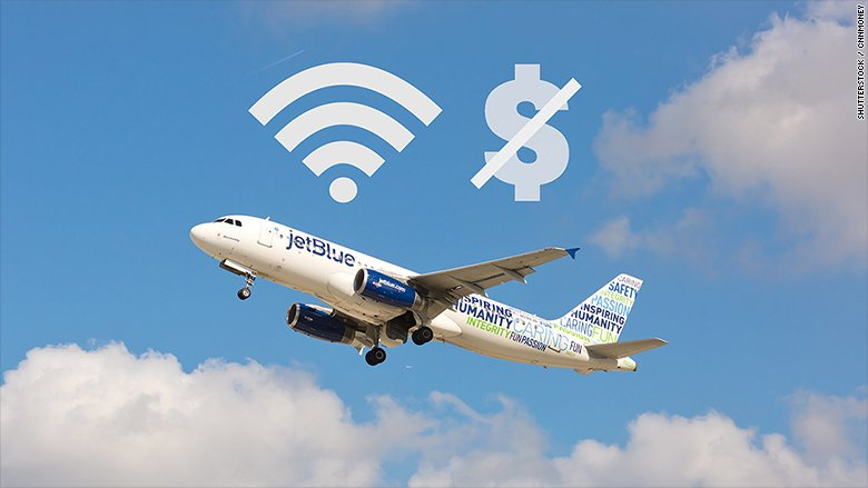 JetBlue just made WiFi free on all of its domestic flights https://t.c...