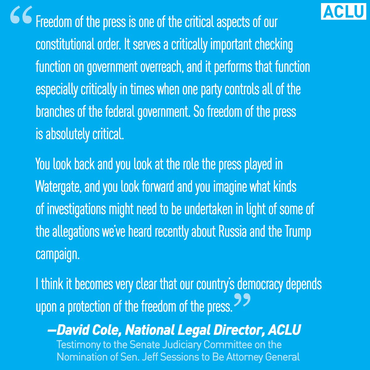 As the #TrumpPressConference happened, @DavidColeACLU spoke about the...
