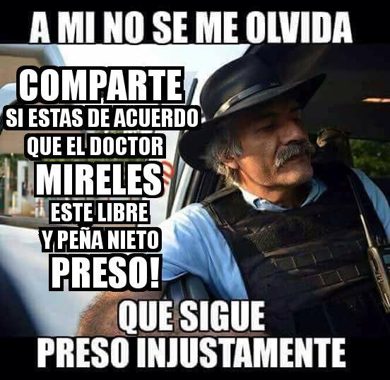 No dejemos solo a Mireles una víctima más de @epn ¡Mireles Libre! #EsD...