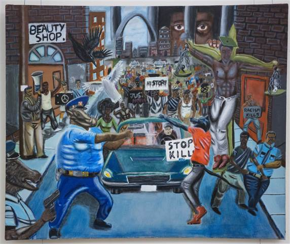 Republican lawmakers keep taking the painting down, and Black Caucus lawmakers keep putting it back uphttps://t.co/GXxBgJ5IIx.