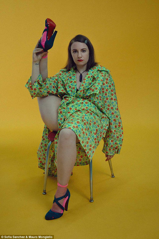 Lena dunham poses legs akimbo as she reflects on her future 2