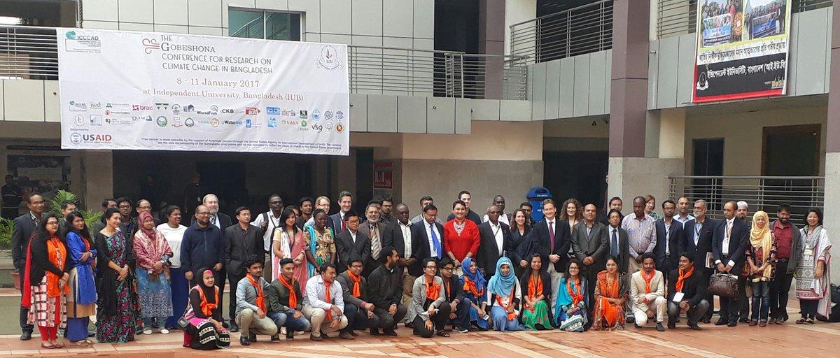The Gang of Gobeshona Conference for Research on Climate Change #gobeshona3 @Nauman30 @MahmoodTasfiq @SaleemulHuq @tamanna_disha @Gobeshona<br>http://pic.twitter.com/fdxj6wQUFn