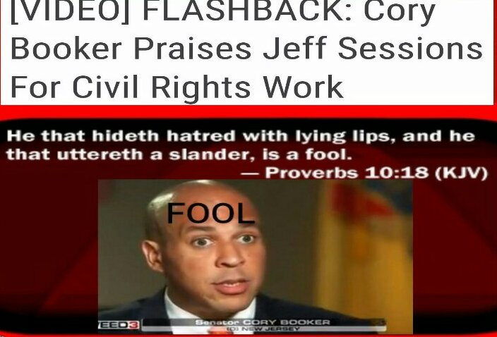 When was @CoryBooker telling the truth about Sen #Sessions? http:// dailycaller.com/2017/01/10/fla shback-cory-booker-praises-jeff-sessions-for-civil-rights-work-video/ &nbsp; …  #ConfirmSessions  #SenateHearing <br>http://pic.twitter.com/w8650JpNiM