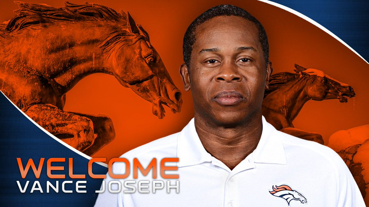 OFFICIAL: We've hired Vance Joseph as head coach  📰 » https://t.co/2PR...