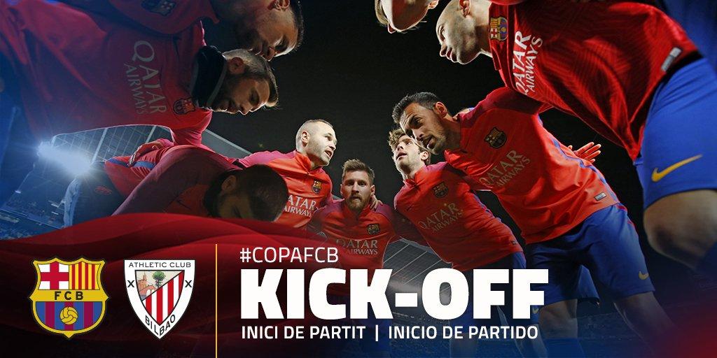 📍 ¡¡Comienza el partido de #CopaFCB en el Camp Nou!! 📢 #ForçaBarça 🔴🔵...