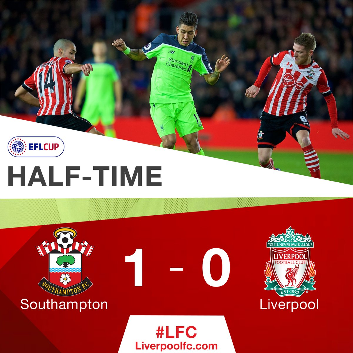 45 - HALF TIME [1-0] https://t.co/BQVc2PIZsi #LFCIndonesia https://t.c...