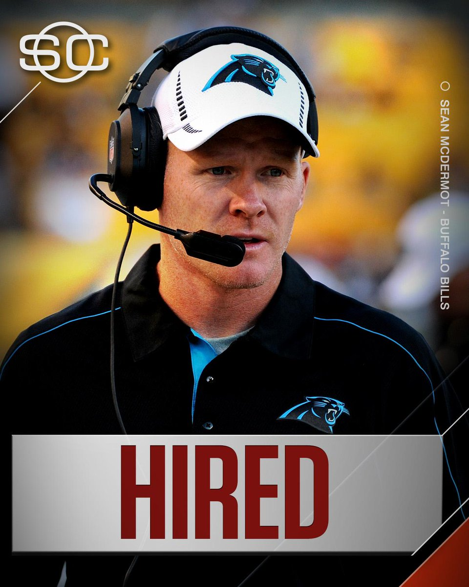 THIS JUST IN: Bills have agreed to a deal with Sean McDermott to hire...