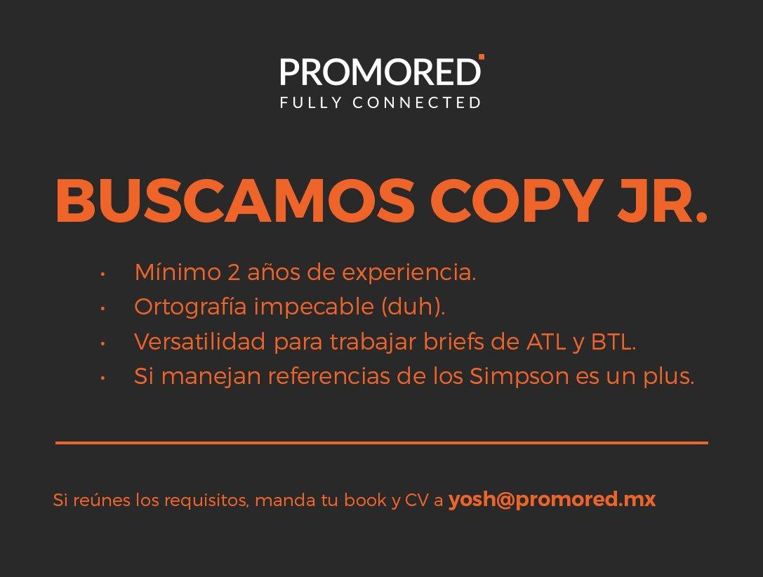 Ando buscando un Copy Jr. y/o padawan,  manden books si están buscando o compartan si conocen a alguien. #SíHayTrabajo <br>http://pic.twitter.com/DdWjEUKMoS