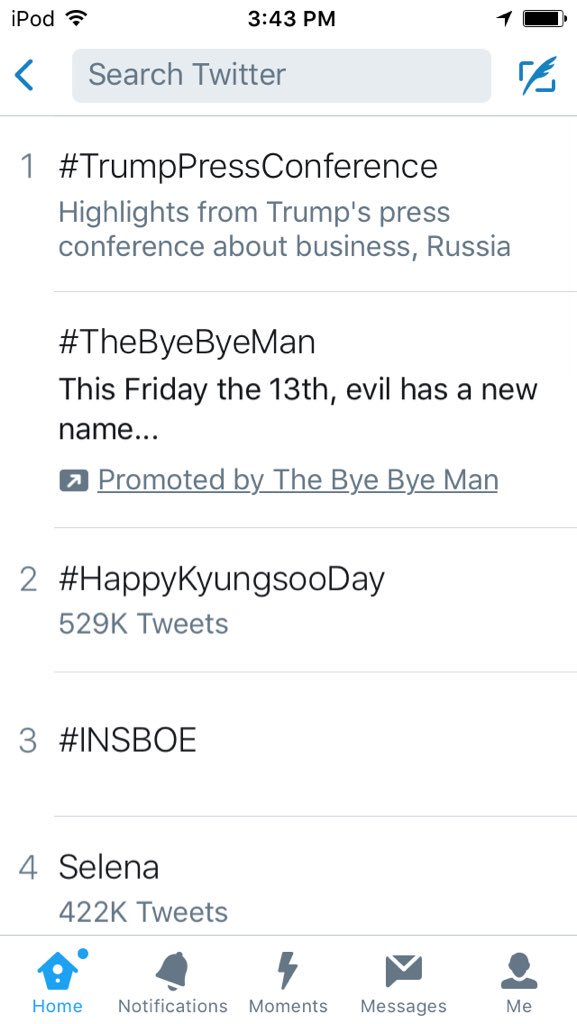 #happykyungsooday is trending!!! In second too!!!!!!!! Happy birthday Kyungie!!!!!!! We love you!!!! <br>http://pic.twitter.com/3cuIhJbCQa