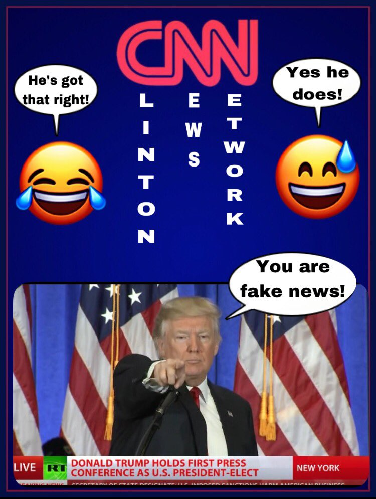 #TrumpPressConference Finally @realDonaldTrump is the only one with guts enough to tell @CNN the truth #YouAreFakeNews #ClintonNewsNetwork<br>http://pic.twitter.com/Y43l29WmlB