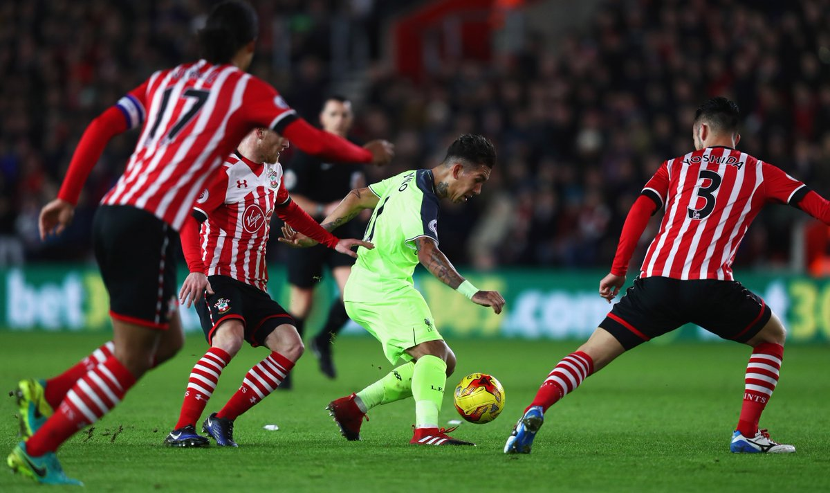 60: Now it's Firmino's turn - his effort, however is easily saved by F...