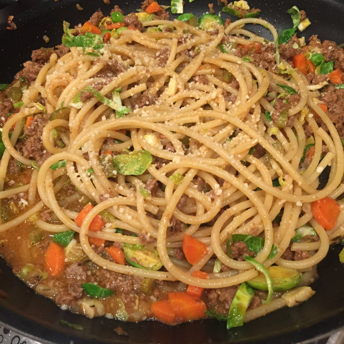 Blue apron bucatini - Gayle Fine On Twitter Bucatini Pasta Bolognese With Brussels Sprouts Blueapron Https T Co Dac8pbk2ts