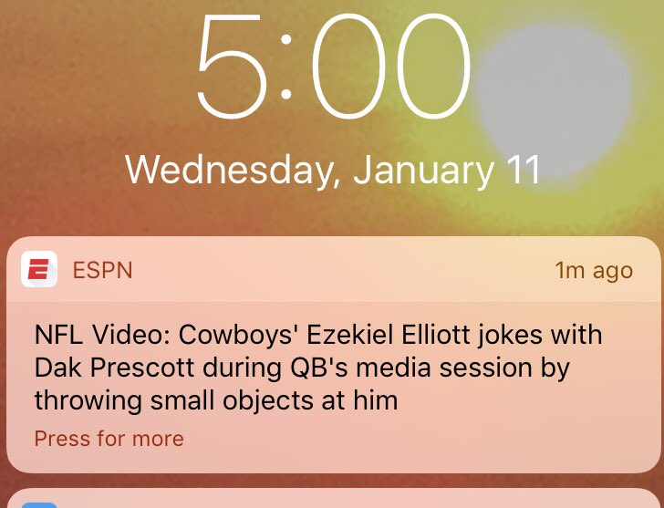 Thanks ESPN for providing me with this very important and timely breaking news. https://t.co/y61rrCnkN3