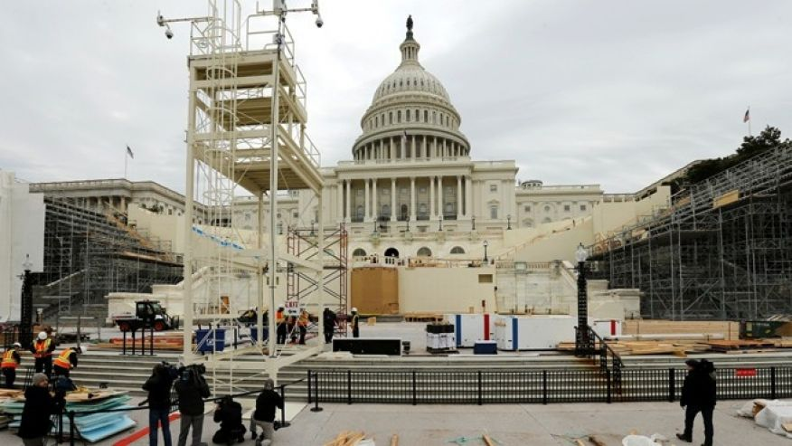 Massive security preparations under way for inauguration, amid protest threats to 'paralyze' DC
