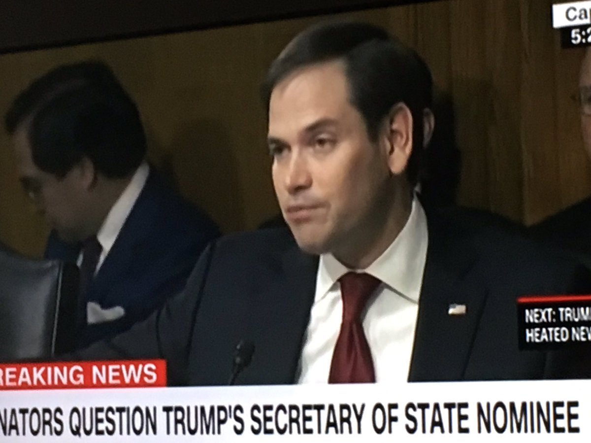 Rubio only cares abt people &amp; rights with a Republucan in the WH! #hypocrite #littlemarco #lyinDon #TillersonConfirmation #SenateHearing <br>http://pic.twitter.com/kgIZbUND1K