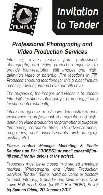 Film fiji on twitter invitation to tender professional photography film fiji on twitter invitation to tender professional photography and video production services needed for more information check out the image stopboris Gallery