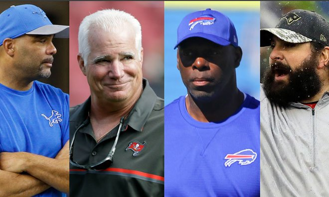 An updated look at the candidates in the running for #Chargers head coach after recent news.  INFO: https://t.co/SKE7L8Bcwu https://t.co/aaY0og9XfY