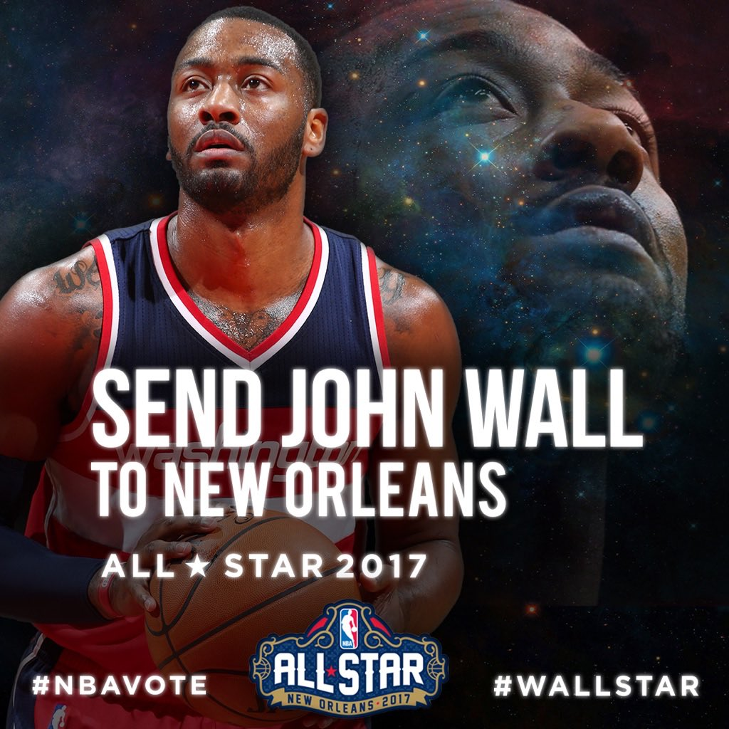 Don't forget to vote before midnight tonight! @JohnWall #NBAVOTE #WallStar https://t.co/Pbt3Qa9O9w