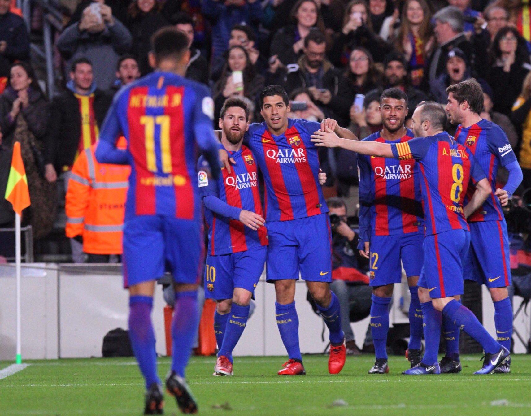 Grande equipo! Contento por la victoria y por darle la vuelta a la eliminatoria! Feliz por llegar a los 100 goles y que vengan muchos más! https://t.co/HpHrTOHrWJ